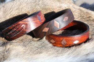 Copper Inlay Bracelets